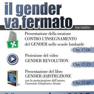 """""""Il gender va fermato"""", battaglia della Lega a suon di convegni: nuovo incontro al Pirellone"""