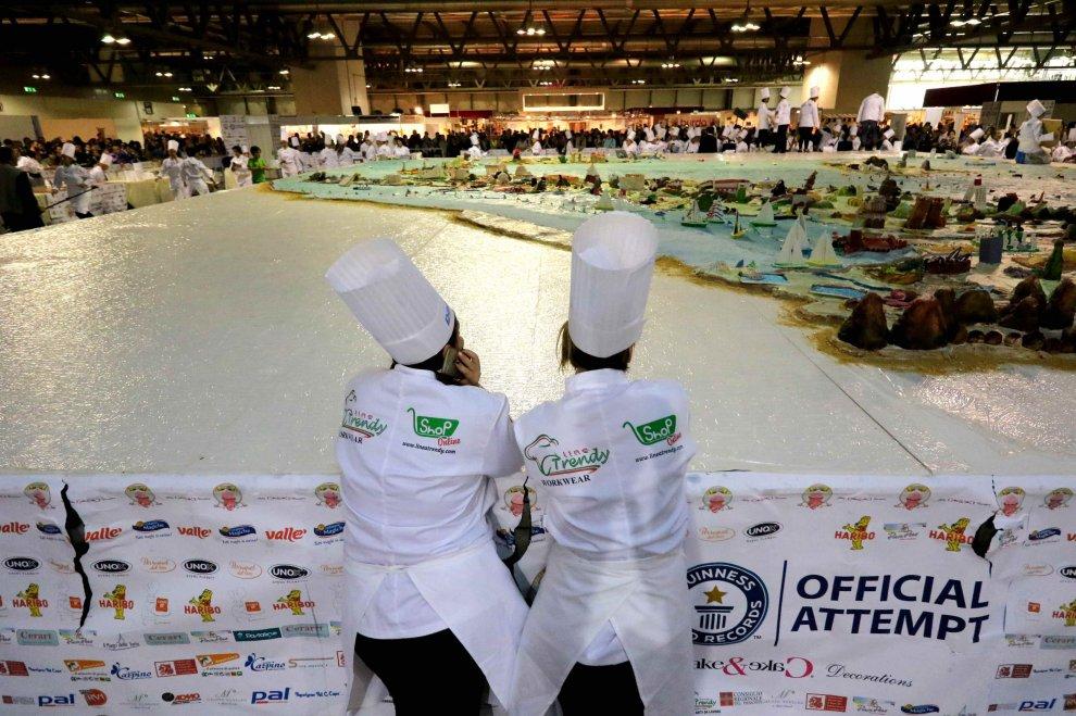 Cake design, la torta dell'Italia formato maxi entra nel Guinness