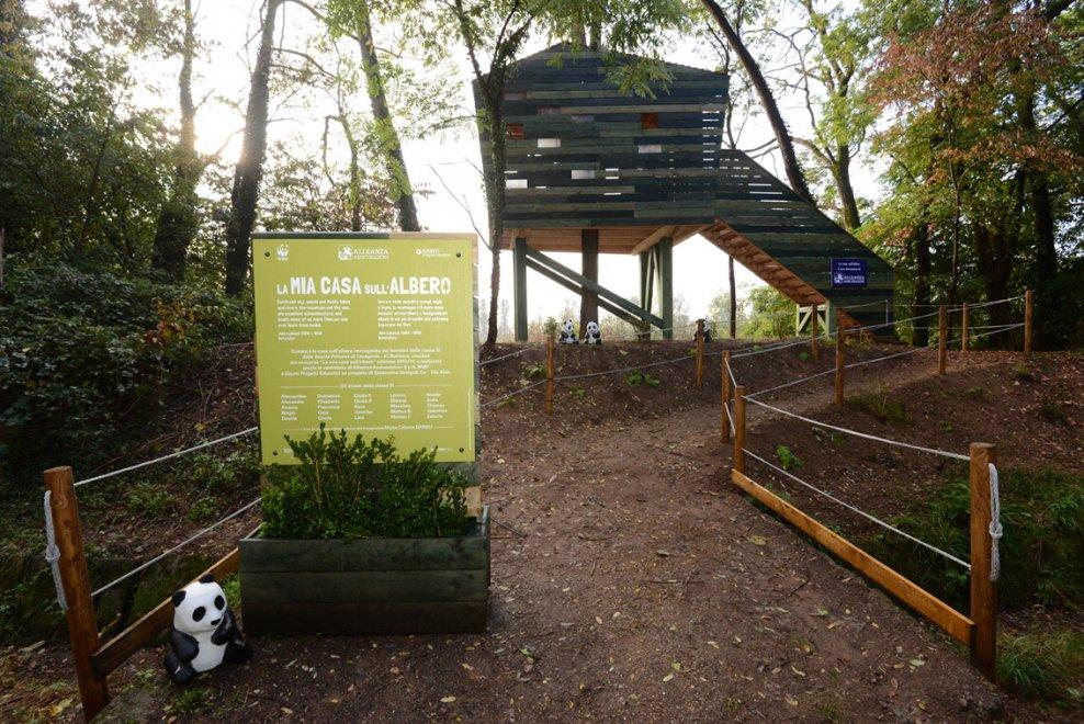 Milano all 39 oasi wwf la casa sull 39 albero progettata dai bambini 1 di 1 milano - Casa sull albero progetto ...