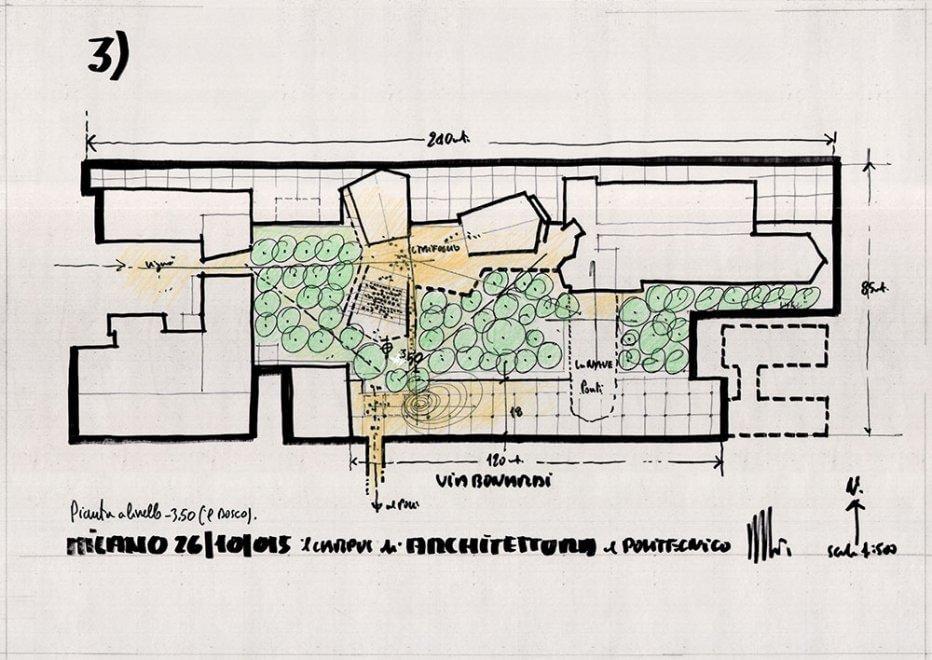 Milano i disegni di renzo piano per il campus del for Progetti di renzo piano