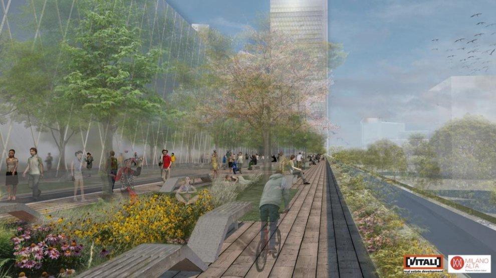 Milano avrà la sua High line, il nuovo progetto dopo l'addio allo stadio del Milan