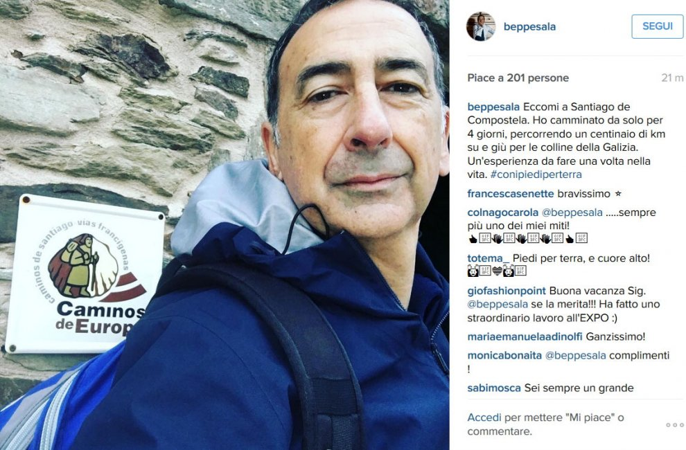 Che fine ha fatto Sala? Il commissario rispunta su Instagram: pellegrino a Santiago de Compostela