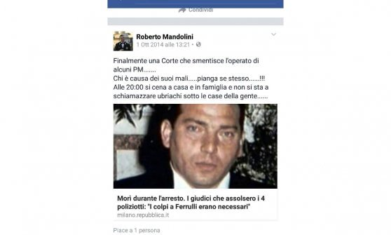 Caso Cucchi, anche la figlia di Ferrulli su Fb contro l'indagato. Lucia Uva scrive a Boldrini