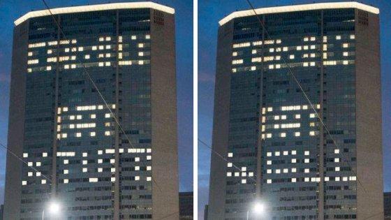 Guerra delle luci al Pirellone, l'opposizione contrattacca con una scritta anti-Family day