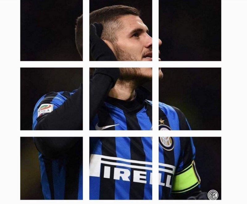 Inter, l'esultanza di Icardi diventa un puzzle da ricomporre su Instagram