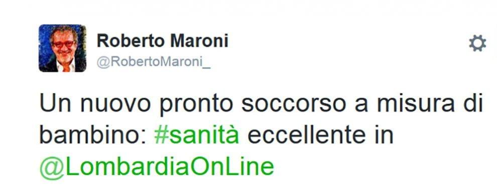 """Tangenti, """"sanità eccellente in Lombardia"""": i tweet di Maroni prima dello scandalo"""