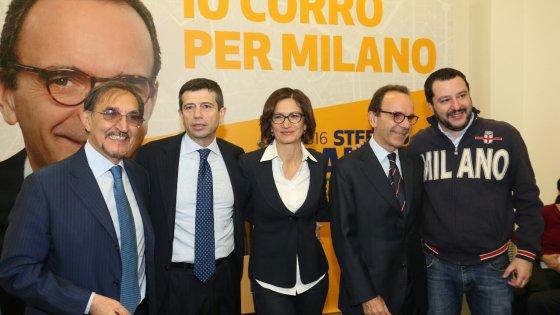Milano, Ncd e Lega separati in casa con Parisi. Salvini: 'Mai sul palco con Alfano'. Lupi: 'Non è un'unione civile'