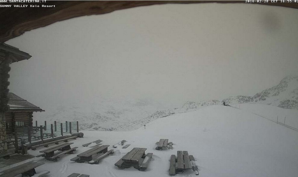 Maltempo, neve sui monti della Lombardia