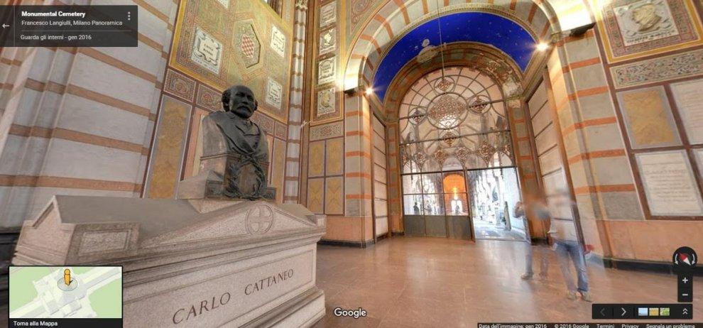 Milano, nel cimitero Monumentale: ti guida Google Maps