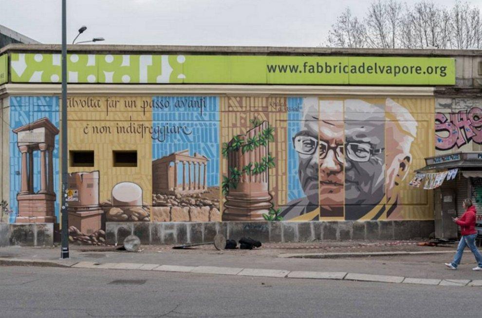 Milano, il murale dei writer per ricordare il custode di Palmira ucciso dall'Is
