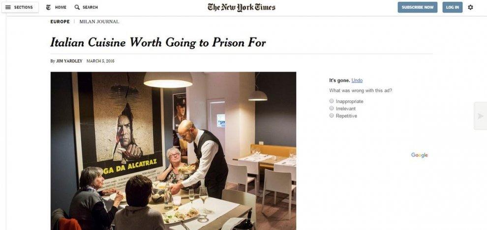 Il risto-carcere di Bollate conquista il New York Times