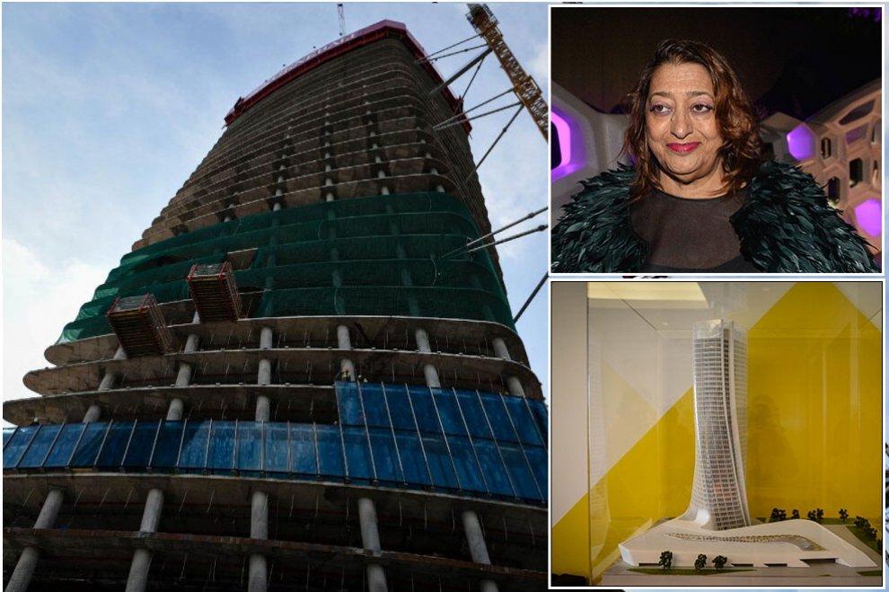 Nello skyline di Milano il segno di Zaha Hadid, l'addio mentre cresce il suo 'Storto'