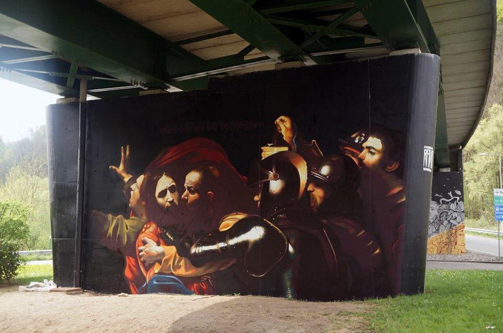 Varese, un Caravaggio nel sottopasso: il murale è un'opera d'arte