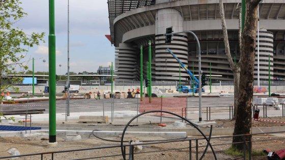 Finale Champions, la coppa è arrivata ma lo stadio è un cantiere: San Siro sorvegliato speciale
