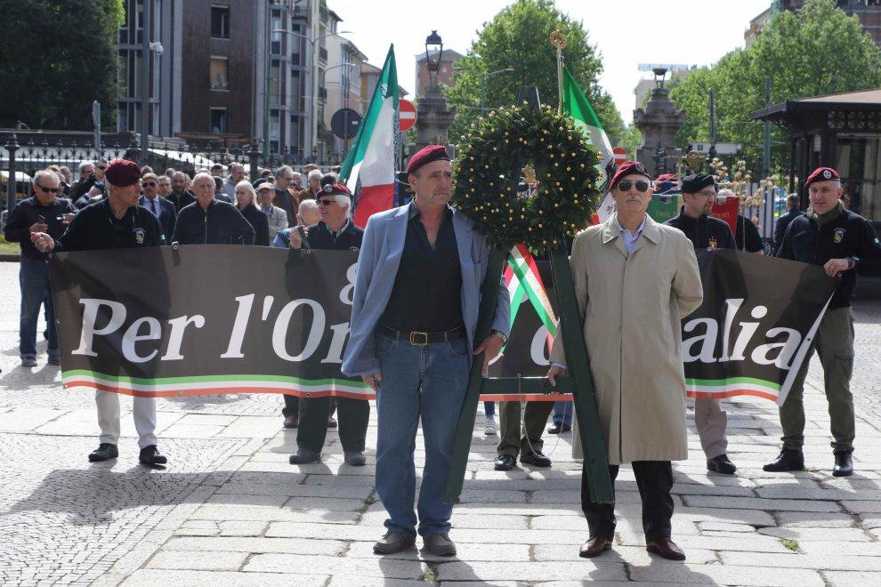 Milano, la commemorazione dell'estrema destra per i caduti Rsi