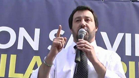 """Comunali di Milano, Salvini apre la campagna: """"Qui siamo compatti, a Roma errore di Berlusconi"""""""