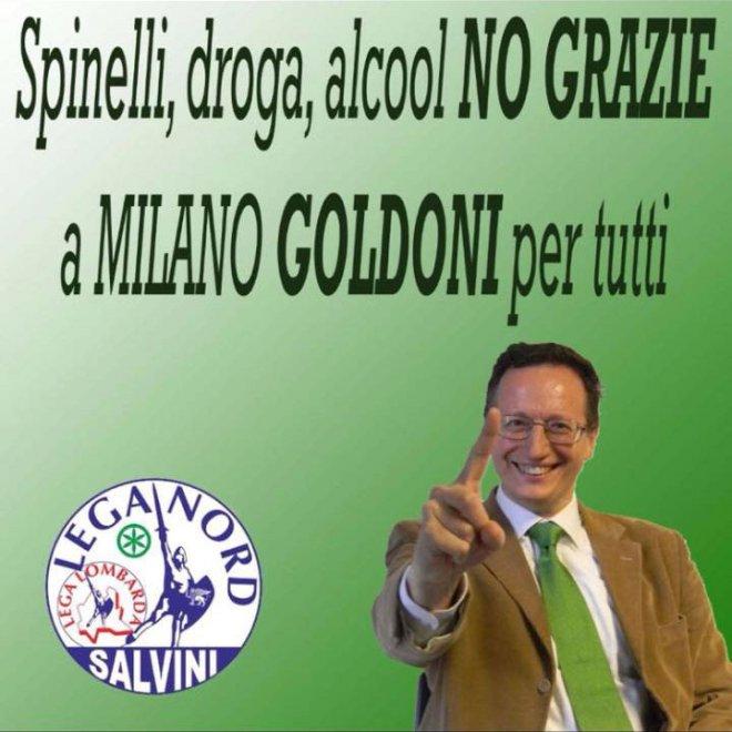 Milano, la Lega strizza l'occhio all'hard con i manifesti del candidato Goldoni