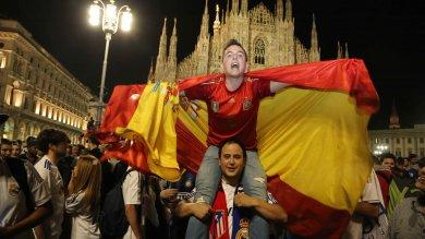 Foto  Champions, la festa del Real in Duomo