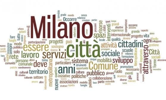 Elezioni Milano, le tag cloud dei 9 candidati: da 'comune' a 'servizi', le parole dei programmi