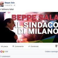 Beppe Sala annuncia la vittoria sui social: