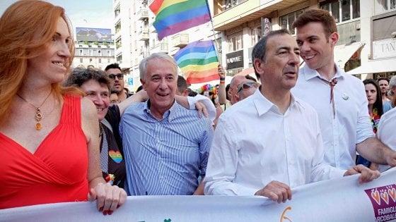 """Gay Pride a Milano, in marcia con Sala e Pisapia. Gli organizzatori: """"Siamo 200mila"""""""