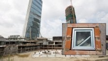 Così nasce un grattacielo Libeskind battezza    il Curvo di Citylife