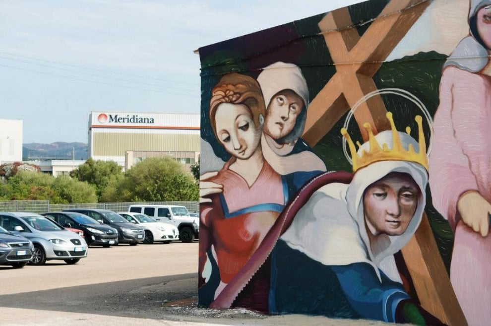 Varese, lo street artist di Caravaggio in trasferta: tuffo nell'arte sarda