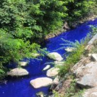 Fiume blu come in Avatar nel Milanese:
