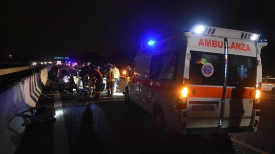 A4: incidente tra Trezzo e Cavenago, un morto e sei feriti