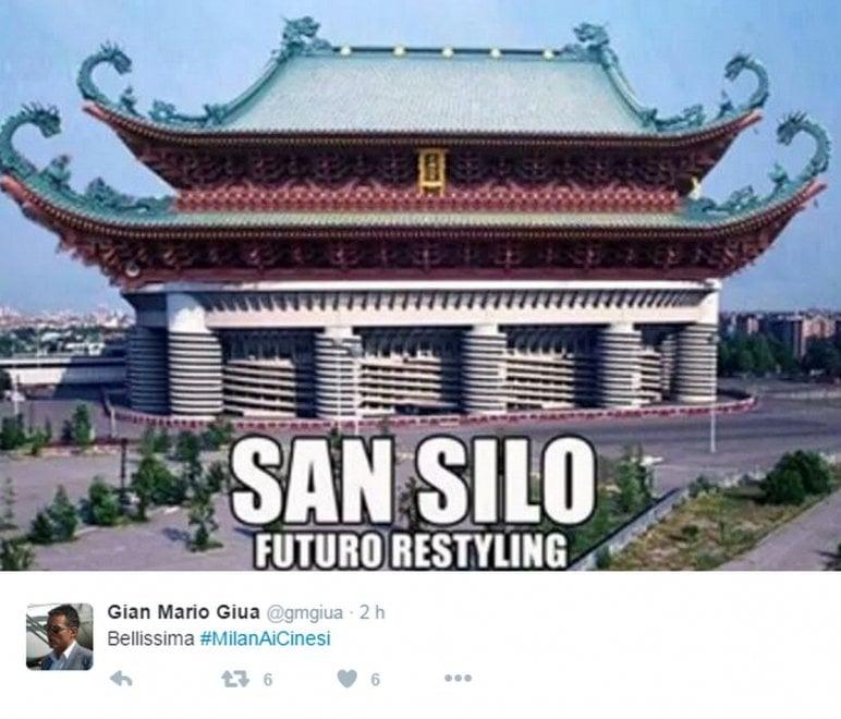 Ironia social sul Milan cinese, ecco San Silo: lo stadio diventa una pagoda
