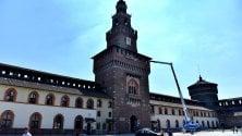 Lavori sulla Torre del Filarete: chiuso l'ingresso principale del Castello