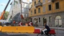 M4, abbattuto un palazzo storico in via De Amicis