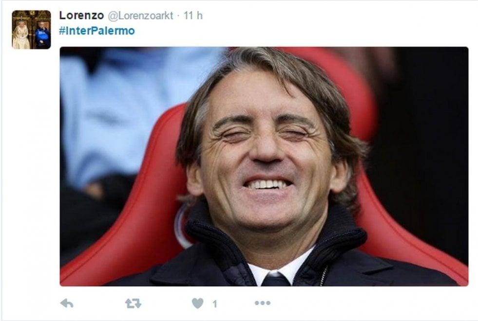 Inter amara contro il Palermo, i delusi di San Siro si sfogano sui social