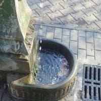 Milano, la fontana del parco giochi ostaggio dei tossicodipendenti: