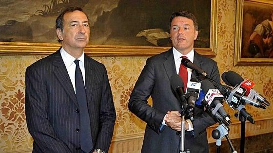 Renzi da Sala per la firma del Patto per Milano. Metrò, militari, periferie Seveso: i punti dell'accordo