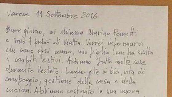 """Niente compiti ma lezioni di vita: la lettera del papà di Varese ai prof: """"In estate fanno male"""""""