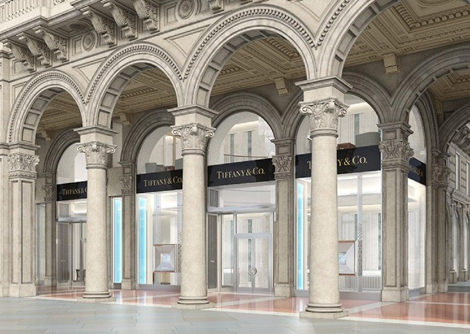 Tiffany triplica a milano il nuovo negozio in piazza for Tiffany excelsior milano