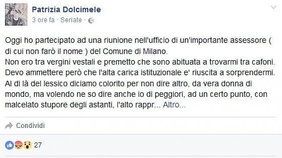 """Milano, giallo su Facebook: """"Un'assessora fuma durante una riunione nel suo ufficio a Palazzo Marino"""""""