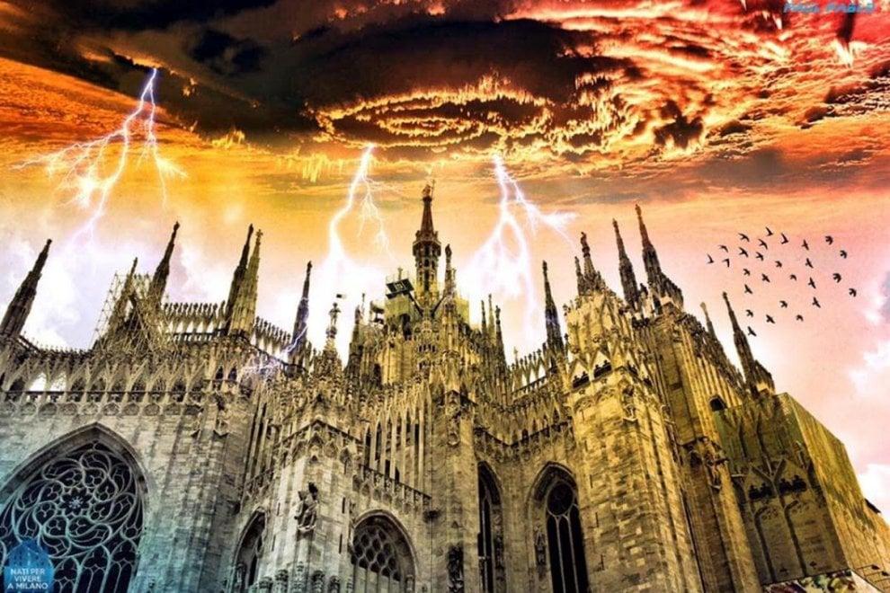 Independence day a Milano, cieli apocalittici sulla Madonnina