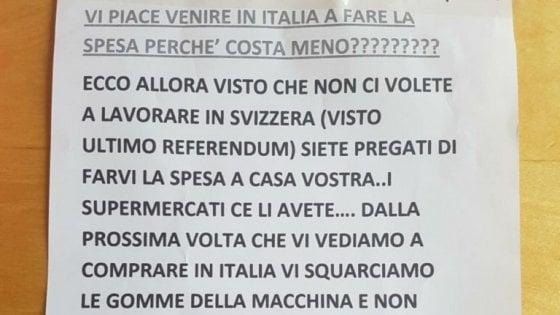 """Frontalieri, sale la tensione al confine. Minacce contro gli svizzeri: """"Basta fare la spesa in Italia"""""""