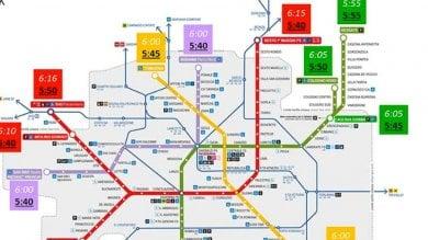 Metrò, si parte prima dell'alba: la mappa completa dei  nuovi orari anticipati
