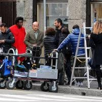 Milano, sul set del nuovo film di Antonio Albanese
