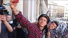 In Duomo, l'urlo dei fan in delirio per Benji&Fede