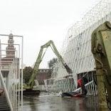 """Expo gate, è l'ora delle ruspe   Sui social il messaggio d'addio  del papà-architetto: """"E' la fine"""""""