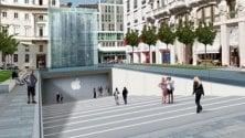 """Apple store, indizi  di vetro e pietra    """"Ecco la nuova piazza"""""""