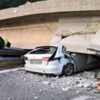 Lecco, il cavalcavia crollato sulla statale 36