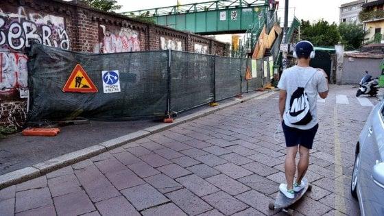 Milano cantiere interminabile al ponte di porta genova - Treni vigevano milano porta genova ...