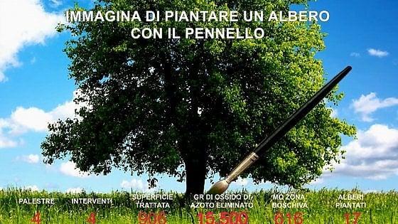 """Milano, arriva il """"bosco invisibile"""", la vernice magica che elimina i batteri nelle scuole"""
