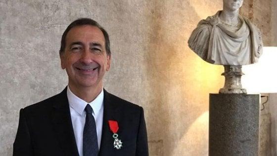 """Legion d'Onore a Beppe Sala, il sindaco: """"Parigi ispirazione per una Milano più internazionale"""""""