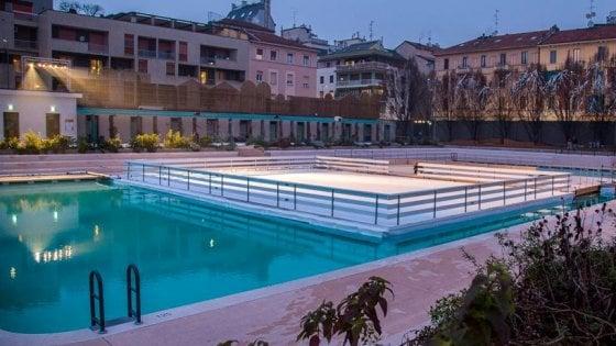 milano, il villaggio da fiaba dei bagni misteriosi: patinoire